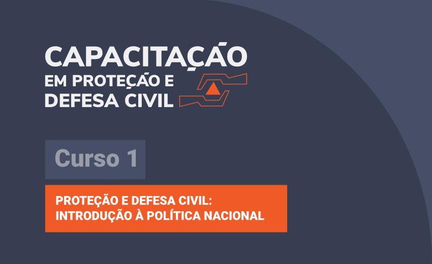 Logo do Curso Proteção e Defesa Civil: introdução à Política Nacional - Curso 1